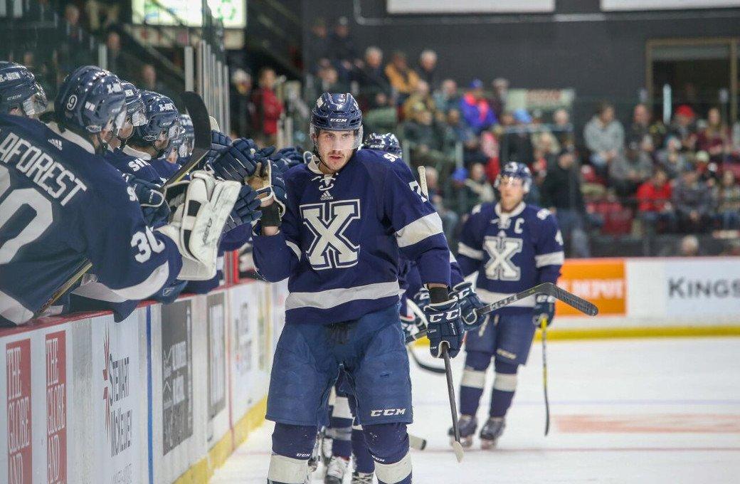 bb91d446d3e Semifinal 1  X-Men upset V-Reds to advance to final — Men s Hockey ...